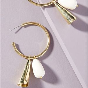 Anthropologie Soko Malindi Gold hoop  earrings